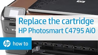 Replacing a Cartridge - HP Photosmart C4795 All-in-One Printer(, 2010-09-17T17:09:03.000Z)