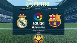 FIFA 18 Real Madrid vs Barcelona | La Liga 2017/18 | PS4 Full Match