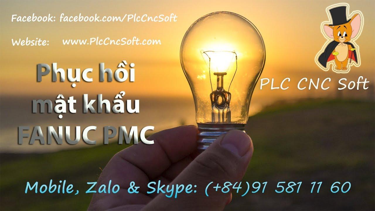 Recover Password FANUC PMC (phục hồi mật khẩu FANUC PMC)
