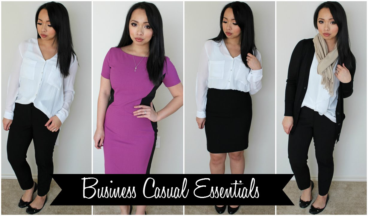 a16b6cc928d How to Build a Work Wardrobe - Business Casual Essentials - YouTube