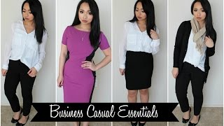 How To Build A Work Wardrobe - Business Casual Essentials
