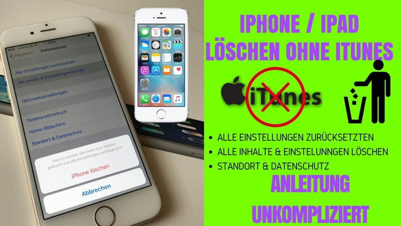 Iphone 5 restlos löschen