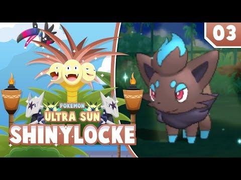 BEAUTIFUL ZORUA!! Pokemon Ultra Sun and Moon ShinyLocke Let's Play w/ aDrive! Ep 3