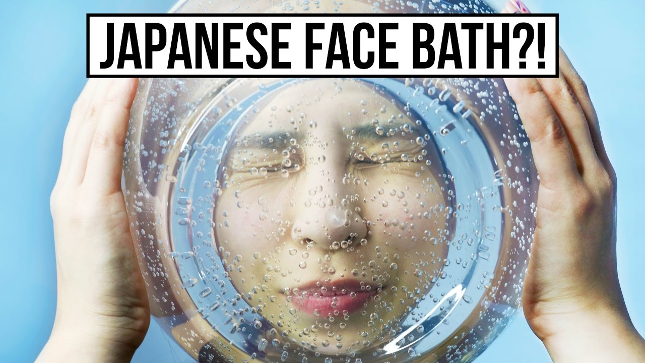 Japanese Carbonated Face Bath! TINA TRIES IT