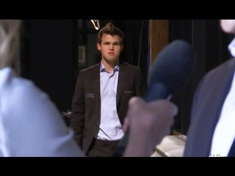 Annoyed Carlsen  (Chess World Championship 2016)