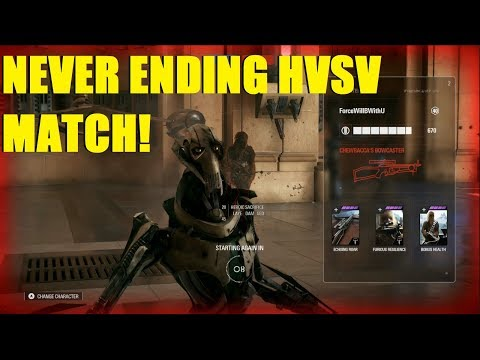 Star Wars Battlefront 2 - The never ending HvsV match! Crazy points but did we win? (Rey, Grievous) thumbnail