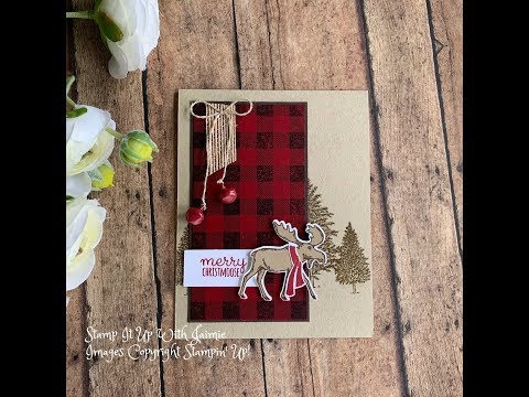 Stampin' Up! Rustic Chritmas Merry Moose Tutorial thumbnail