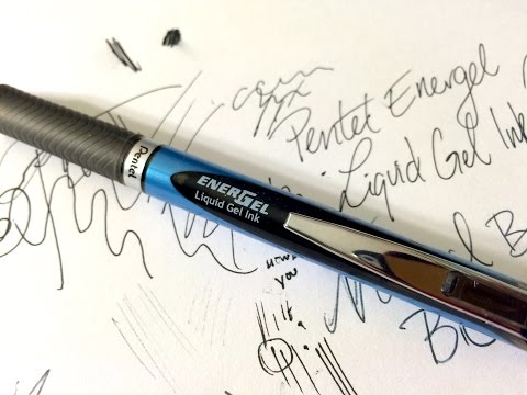EnerGel Needle Tip 0.5 mm Ball by Pentel Demonstration Review