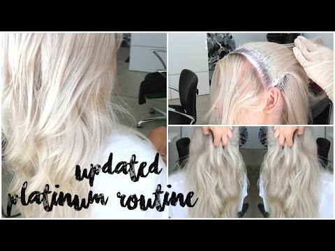 HOW TO GET PERFECT PLATINUM - UPDATED BLONDE HAIR ROUTINE