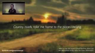 Take Me Home, Country Roads - John Denver (Karaoke w/ lyrics on screen)