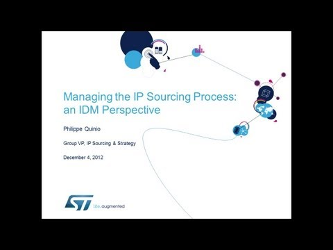 Managing the IP Sourcing Process: an IDM Perspective