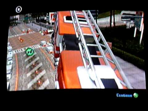 Burnout 3 Glitch: Firetruck goes flying!!!
