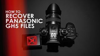 How To Recover Coŗrupt Panasonic GH4 and GH5 .mdt Video Files