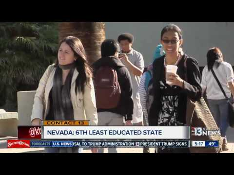 Nevada is the 6th least educated state in the U.S.