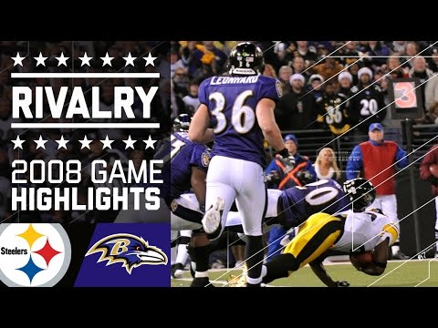 Santonio Holmes Clinches AFC North by Inches | Steelers vs. Ravens (2008) | NFL
