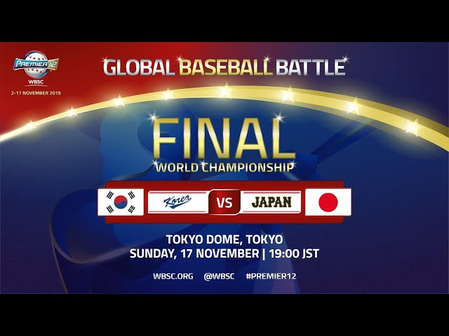 Korea v Japan - WBSC 2019 Premier12 Championship Game