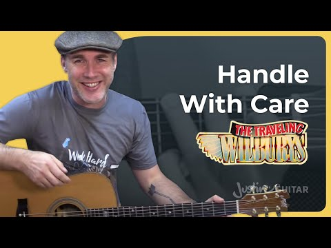 How to play Handle With Care  The Traveling Wilburys Guitar Lesson Tutorial Harrison Orbison Petty