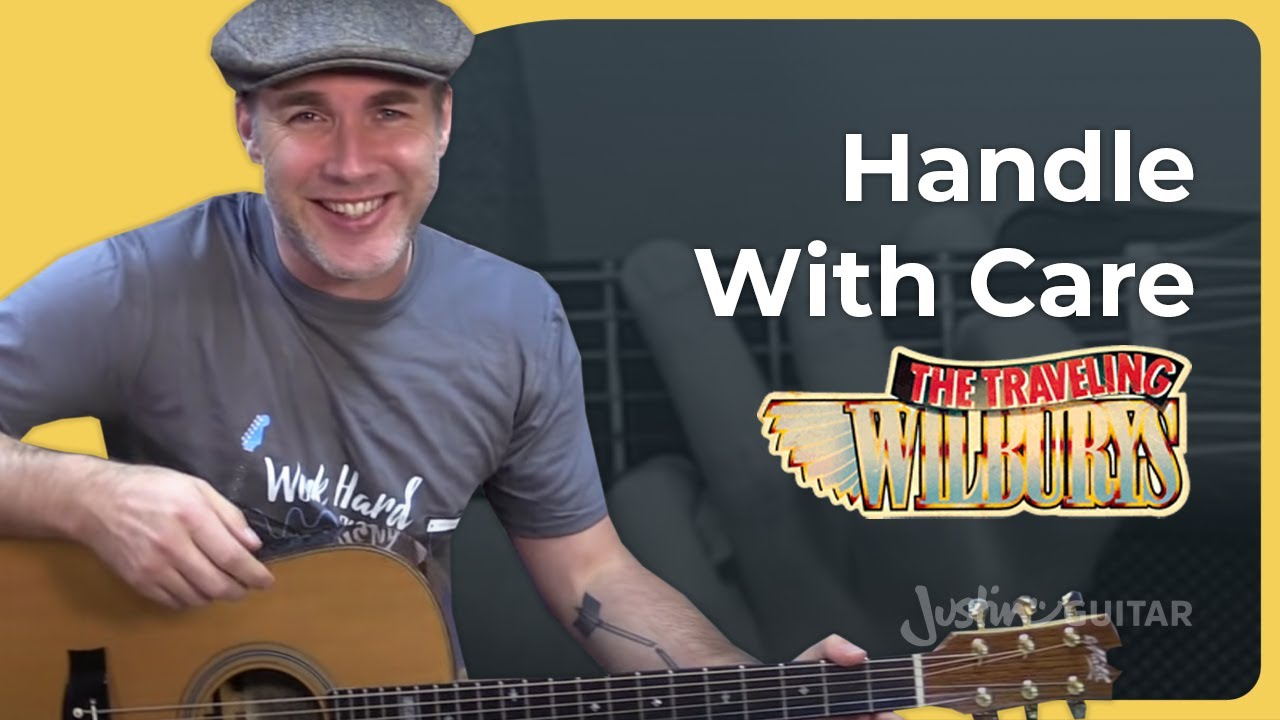 How to play Handle With Care by The Traveling Wilburys Guitar Lesson  Tutorial Harrison Orbison Petty