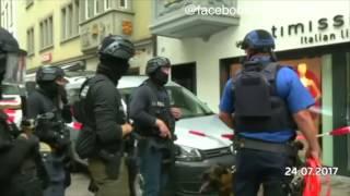 Schaffhausen, Schweiz: Polizei fassT mutmaßlichen Kettensägen-Angreifer