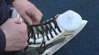 Как правильно зашнуровать хоккейные коньки(Тренер по хоккею школы позитивного катания