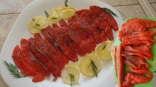 Малосольная нерка. Как вкусно засолить красную рыбу.