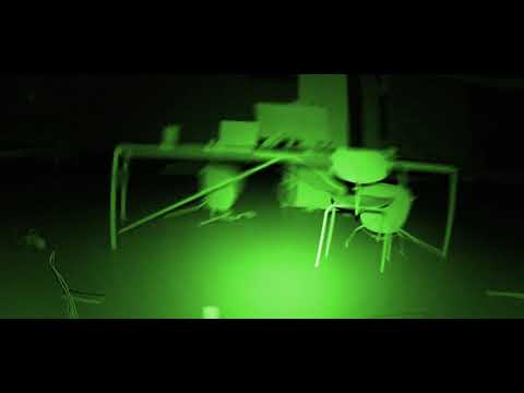 office apocalypse CGI night vision first player POV - ROYALTY FREE Stock Footage HD 1080p