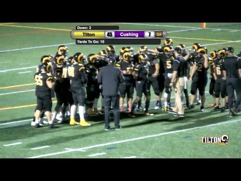 Tilton School Boys Varsity Football vs Cushing Academy September 22 2017