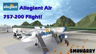 Allegiant Air Boeing 757-200 Flight! | ROBLOX