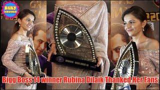 Bigg Boss 14 winner Rubina Dilaik Thanked her Fans