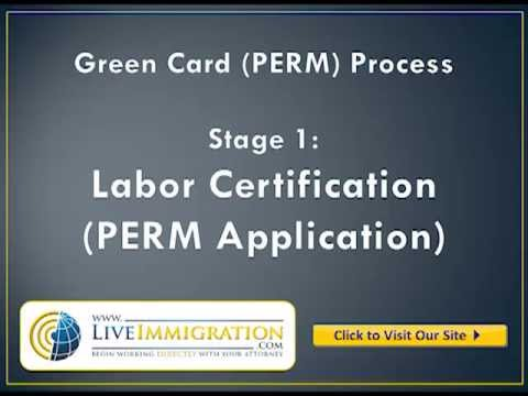 Green Card Process Stage1 - Labor Certification - YouTube