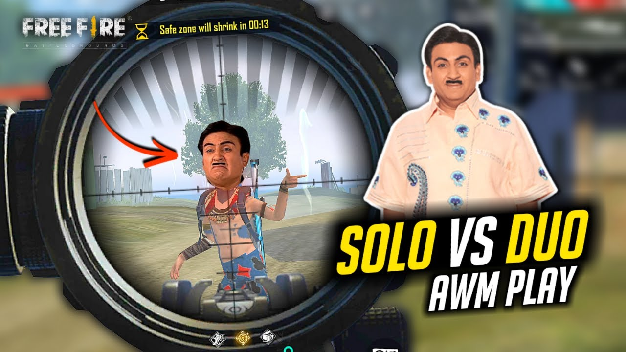 AWM Solo vs Duo Play Jethalal Killed Babita - Garena Free Fire