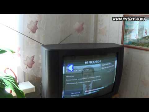 Смотреть Комнатная антенна для приема DVB Т2 типа УСЫ от старого телевизора.