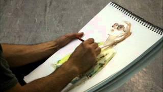 Miguel Angel Reyes, fashion illustrator.