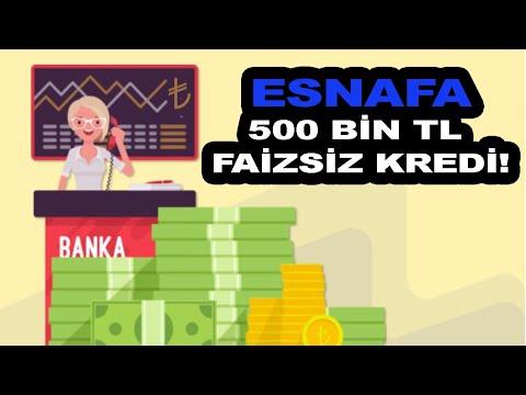 Esnafa 500 Bin TL KOSGEB Faizsiz Kredi HALKBANK 2021