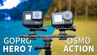 【ENG SUB】DJI OSMO Action VS GoPro Hero 7 - A TOTAL COMPARISON!