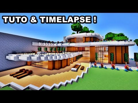 TUTO / TIMELAPSE - ÉNORME MAISON DE LUXE MINECRAFT !! - YouTube