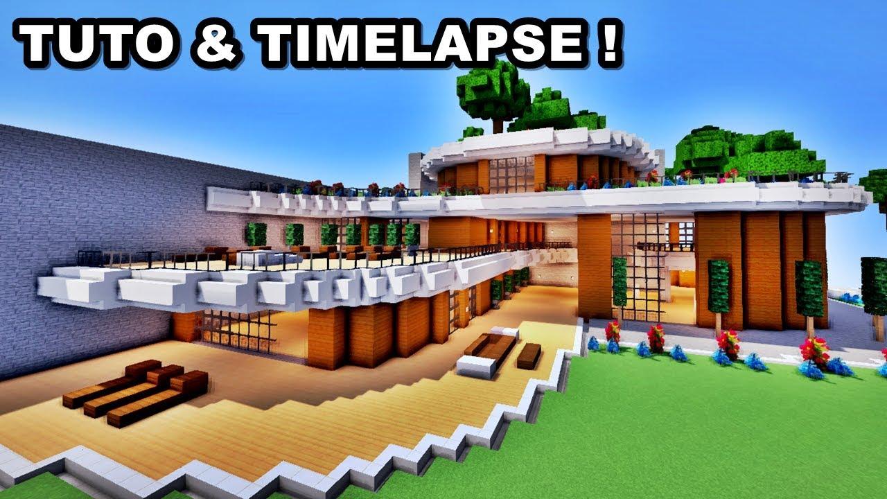 Tuto timelapse énorme maison de luxe minecraft