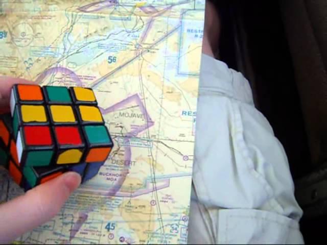 Rubik's Cube Over California