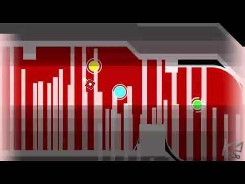 Geometry Dash - HeLL by serponge (Medium Demon) Complete + 3 Coins (Live)
