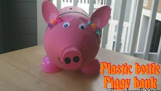 DIY Plastic bottle piggy bank.