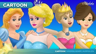 Die Prinzessin auf der Erbse und 4 Prinzessin Märchen | Gutenachtgeschichte für kinder