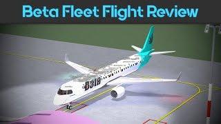 ROBLOX | Flight Review | Beta Fleet E-195 Premium Econony