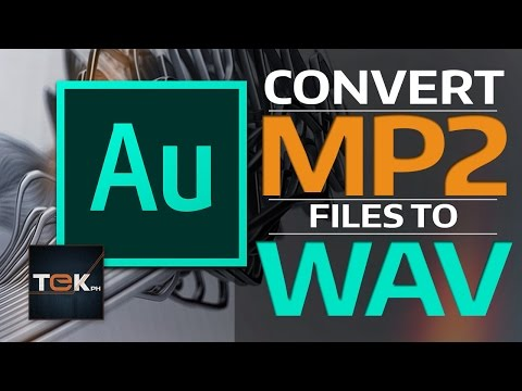How to Convert MP2 to WAV - Adobe Audition CC