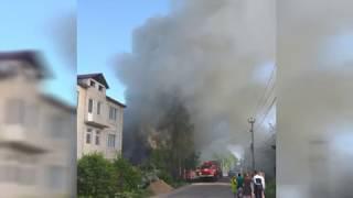 Последствие пожара в жилом доме №29 по ул. Пролетарская