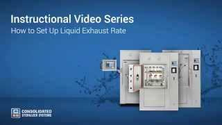 How to Set Up Liquid Exhaust Rate on Your Autoclave - Advantage Series