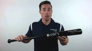 R212AB Adirondack Black Ash Baseball Bat - ADULT Rawlings