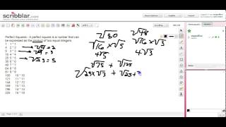 GED Math 2015 - Square Roots