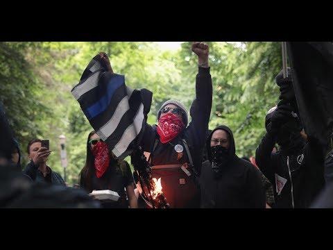 Thin Blue Racist Desecration Flag?