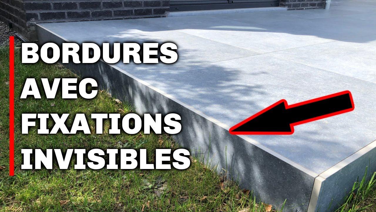 Bordure avec fixation invisible terrasse sur plots - YouTube