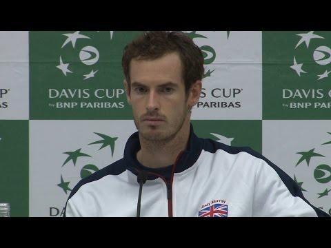 Davis Cup - Andy Murray Reacts To His Defeat To Juan Martin Del Potro